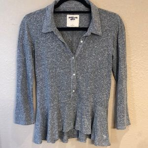 Abercrombie & Fitch Heather Grey Top